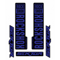 Stickere RockShox Sektor V1 Decal Kit Black/Dark Blue