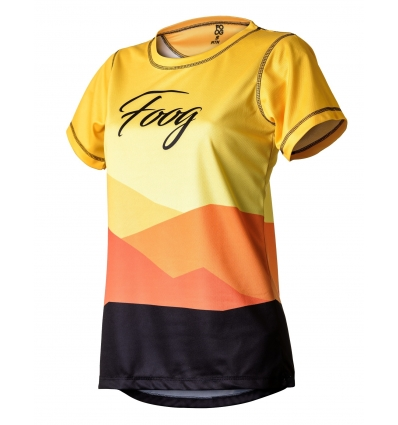"Tricou Tehnic FOOG ""Mountains"" Lady Yellow"